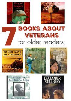 7 books about veterans for kids in 4th-8th grades. http://www.scholastic.com/parents/blogs/scholastic-parents-raise-reader/books-about-veterans-older-readers?eml=PAR/smd/20151102/pinterest/rrblogveteransdaybooks//PAR/content/9am