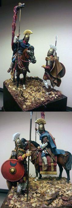 Late empire cavalryman and legionary