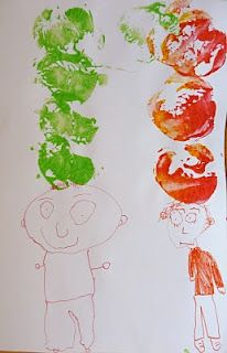 10 apples up on top - self-portraits with apple prints:-  Pinned by @PediaStaff – Please Visit http://ht.ly/63sNt for all our pediatric therapy pins