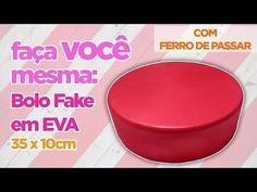 Como Fazer Bolo Fake EVA com FERRO DE PASSAR (1º andar - 30X10cm) SEM EMENDA - YouTube