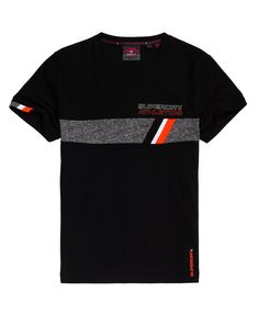 Shop Superdry Mens Trophy Tri Line T-Shirt in Black. Buy now with free delivery from the Official Superdry Store. New T Shirt Design, Shirt Designs, Shirt Print Design, Cool Shirts, Tee Shirts, Shirt Men, Cool Tees, Camisa Nike, Geile T-shirts