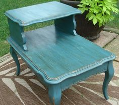 Whimsical Perspective: A Whimsical Makeover - The End Table Edition Refurbished Furniture, Paint Furniture, Repurposed Furniture, Furniture Projects, Furniture Makeover, Home Furniture, Diy Projects, Furniture Update, Cheap Furniture