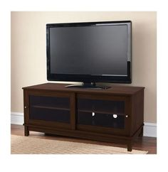"""TV Stand Cabinet Console Furniture Entertainment Media Center Storage 55"""" Cherry #MS #Contemporary"""