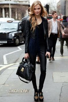 | black white outfit fashion streetstyle minimal classic chic