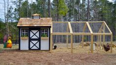 Chicken Coop - 46 high at peek, 12 long coop run Backyard Chicken Product: Chicken Coops - Wyandotte Chicken Coop chickens) - from My Pet Chicken Building a chicken coop does not have to be tricky nor does it have to set you back a ton of scratch. My Pet Chicken, Chicken Barn, Chicken Coop Run, Portable Chicken Coop, Backyard Chicken Coops, Building A Chicken Coop, Chicken Runs, Chickens Backyard, Backyard Ideas