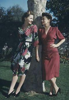 Joan Fontaine - with sister olivia dehavilland
