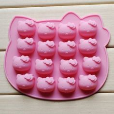 Lovely Kitten Shape Silicone Cake Candy Chocolate Decorating Mold Baking Mould #Starhealth