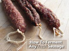 How to make saucisson sec, a classic French dry-cured sausage, from & New Charcuterie Cookbook& by Jamie Bissonnette. Dried Sausage Recipe, Homemade Sausage Recipes, Meat Recipes, Cooking Recipes, Salami Recipes, Homemade Pastrami, Jerky Recipes, Big Chefs, Cheese