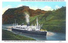 in the Gaillard Cut, Panama Canal