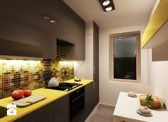 Kuchnia 6m2 - zdjęcie od Wooow! projekt