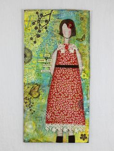 She Found Her Inner Artist Mixed Media Canvas