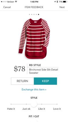 RD Style Birchcrest Side Slit Detail Sweater