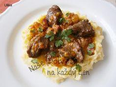 Telecí líčka na slanině Polenta, Pork, Beef, Dishes, Chicken, Cooking, Kale Stir Fry, Meat, Kitchen