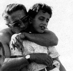 Aristotle Onassis with his son, Alexander. He died so young. A Greek tragedy.