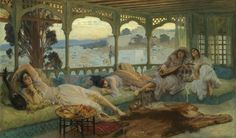 Frederick Arthur Bridgman - Le silence du soir; Alger