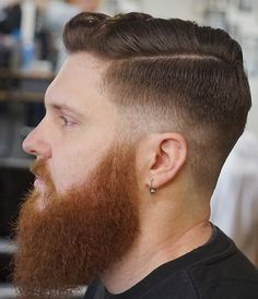 Beard Fade, Red Beard, Ginger Beard, Ginger Guys, Latest Men Hairstyles, Slick Hairstyles, Haircuts For Men, Beard Styles For Men, Hair And Beard Styles
