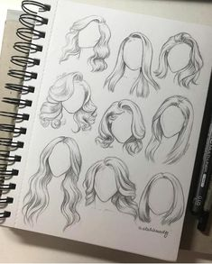 hair sketching style pencil easy