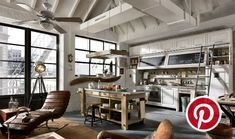 What's Hot on Pinterest: 5 Vintage Industrial Interiors