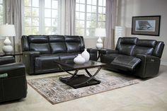 Rancor Leather Seating Power-Reclining Loveseat Media Image 9