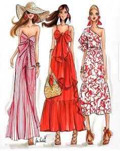 Sailor Stripes & Gardenia Prints❤ / By 🌞 Moda Fashion, Fashion Art, Runway Fashion, Trendy Fashion, Fashion Models, Fashion Show, Fashion Outfits, Fashion Clothes, Style Fashion
