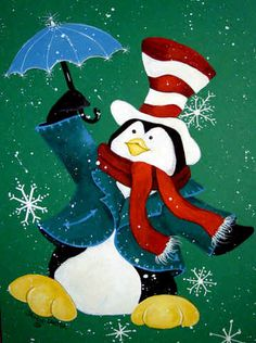 Carolines Treasures Just Dropping In To Say Hello Christmas Penguin Glass Cutting Board, Large Christmas Pictures, Christmas Art, Christmas Decorations, Christmas Ornaments, Illustration Noel, Christmas Illustration, Gif Noel, Penguin Art, Flag Decor