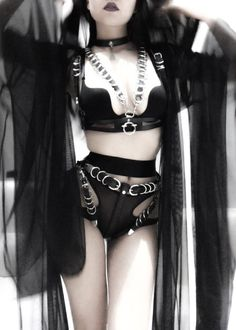 A page were you can see that goth can still mean beautiful . A place to be Goth and proud. Alternative Mode, Alternative Fashion, Edgy Outfits, Cute Outfits, Fashion Outfits, Dark Fashion, Gothic Fashion, Fetish Fashion, Black Lingerie