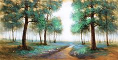 Into the Woods Wood Online, Wood Tree, Green And Brown, Woods, Original Art, Wall Art, The Originals, Plants, Painting