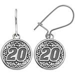 "Insignia Collection Nascar Matt Kenseth Stainless Steel ""20"" Drop Earrings"