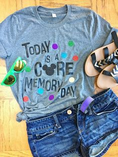 Disney Pixar Shirt - Inside Out Shirt - Disneyworld Shirt - Core Memory Day Unisex Tee - Core Memory Shirt Disney Diy, Disney Crafts, Disney Dream, Cute Disney, Disney Style, Disney Magic, Disney Pixar, Disney Bounding, Disney World Shirts