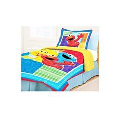 """Sesame Street Comforter Set - Twin by Sesame Street. $59.95. Machine Washable. Sesame Street is great for any boy or little girls room.. 100 % Polyester. Comforter + Sham. Friendly faces make bedtime easier with this Sesame Street comforter and sham set. Sham measures 20 """" L x 26 """" W . Comforter measures 68 """" L by 83 """" W .. Save 29%!"""