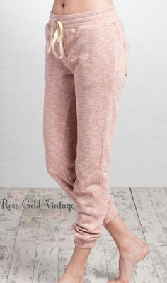 Cozy Weekend Joggers - Blush or Charcoal (Ladies) – Rose Gold Vintage