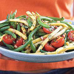 Mixed Bean-Cherry Tomato Salad with Basil Vinaigrette | MyRecipes.com #myplate #vegetables