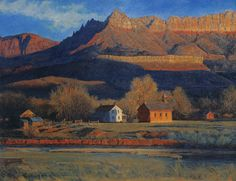 Gaell Lindstrom November Day at Grafton, Utah 1995 21x27 inches, oil