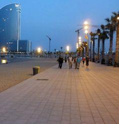 Image result for barcelona beach lighting