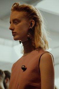 Marni AW15 Dazed backstage Womenswear pin 60s earthy earring