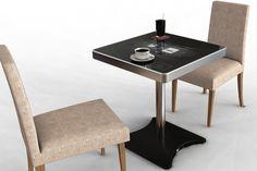 Korean company integrates interactive technology into cafe furniture.