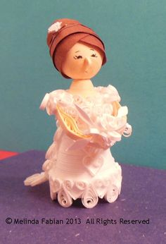 Paper Bride Doll Decoration for Wedding Gift by MelindaFabian