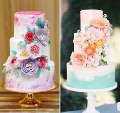 12 bolos com aquarela para a festa de 15 anos