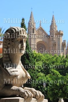 Urban scenic in Palma de Mallorca, Spain Places Around The World, Around The Worlds, Mallorca Island, Cool Pictures, Beautiful Pictures, Barcelona Cathedral, Spain, Lion Sculpture, Asia