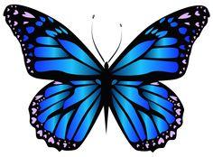 Blue Butterfly PNG Clipar Image