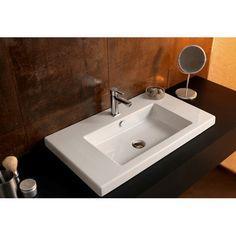 Found it at AllModern - Cangas Ceramic Self Rimming Bathroom Sink