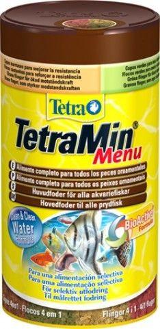 TetraMin Menu - 4 erilaista hiutaletta. Hinta 15,90 €.