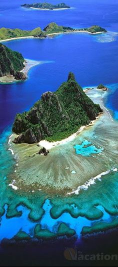 The Marvelous Mamanuca Islands ~ are a chain of 20 islands near Nadi and Denarau that offer crystal clear waters, palm fringed sandy beaches and live coral reefs in Fiji.