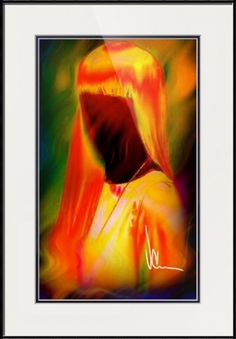 """""""Fiery"""" by Vernon Crumrine, Mesquite // Abstract portrait of a fiery redhead... // Imagekind.com -- Buy stunning fine art prints, framed prints and canvas prints directly from independent working artists and photographers."""