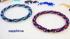 シードビーズで作るブレスレットの作り方 留め具の無いタイプ ビーズステッチ(ペヨーテステッチ) Seed beads Bracelet