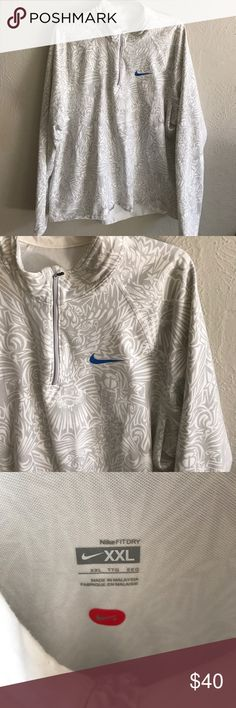 "Nike tribal jacket Excellent condition!  Cool pull over.  Measures 29"" long and 22"" armpit to armpit approximately Nike Jackets & Coats"