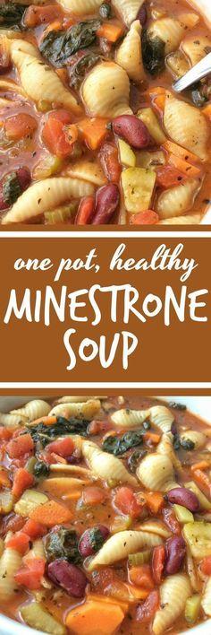 Vegetable soup healthy - Minestrone Soup Soup Soup Recipes Vegetable Soup Healthy Together as Family minestronesouprecipes souprecipes minestronesoup Vegetable Soup Healthy, Vegetable Recipes, Vegetarian Recipes, Healthy Recipes, Healthy Soups, Veggie Food, Crock Pot Recipes, Cooker Recipes, Bean Soup Recipes