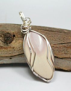 Mookite Wire Wrapped Pendant - Healing Crystal, Australia, Protection