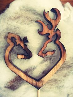 Hey, I found this really awesome Etsy listing at https://www.etsy.com/listing/171902713/browning-deer-male-female-heart-wood