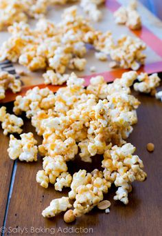 4 ingredient Peanut Butter Caramel Corn - in only 10 minutes!